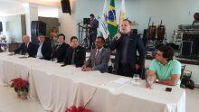 Novo presidente do Sindifisco-MS, Ronal Vielmo Monteiro, em cerimônia de posse