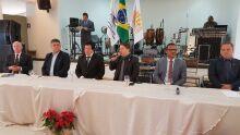 Novo presidente da Fiscosul, Cloves Silva, em cerimônia de posse