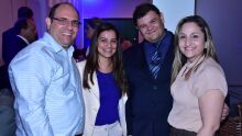 Reitor UFMS, Marcelo Turine, presidente do Conselho de Farmácia, Kelle Slavec, vereador Vinicius e Cristiane da Federação do Comércio