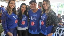 Jaqueline, Mirelli, Carlos Alberto e Rejane Monteiro