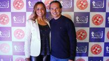 Tatiana Trad e  o prefeito Marquinhos Trad