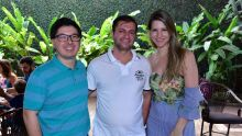 Fábio Capucho, Wilson Maingue Neto e Kemi Maro