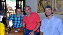 João Ricardo Pinho, Mamed Rahin e Antônio  Ferreira Junior