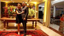 juíza May Melke Amaral Penteado Siravegna, diretora social da AMAMSUL, com o esposo juiz Eduardo Eugênio Siravegna Jr
