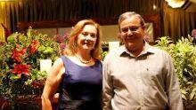 juiz aposentado Hermenegildo Vieira da Silva com a esposa Neuza