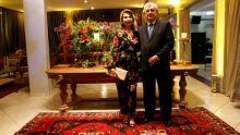 desembargador aposentado Luiz Carlos Santini comk a esposa Marilene