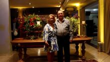 Juiz aposentado Darion Leão Lino com a esposa Eloísa