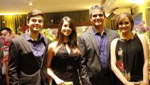 Juiz César castilho Marques com a esposa Vaneide e os filhos