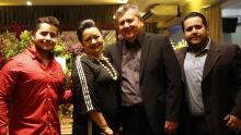 Juiz Wilson Leite Corrêa com a esposa Lúcia e os filhos Wilson e Lucas