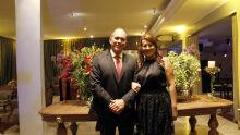 Juiz Plácido de Souza Neto com a esposa Divina
