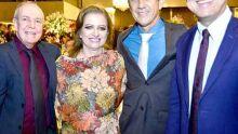 Nelson Schneider, Milton Pessoa e esposa e Francisco Assis