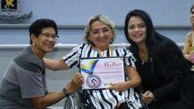 Vereadora Cida Amaral, Mirian Mirella Ballatore Holland Tosta e a vereadora Dharleng Campos
