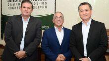 Eduardo Rocha, deputado estadual; Alessandro Oliva Coelho, presidente do Sindicato Rural de Campo Grande e Maurício Saito, presidente da Famasul