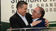 Maurício Saito, presidente da Famasul e Alessandro Oliva Coelho, presidente do Sindicato Rural de Campo Grande