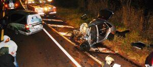 Acidente em rodovia deixa três mortos