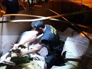 Policiais encontram 2 toneladas de maconha em sacos de milho