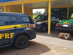 PRF apreende cocaína escondida em tanque de combustível