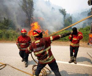 Bombeiros controlam incêndio em Abrantes, centro de Portugal