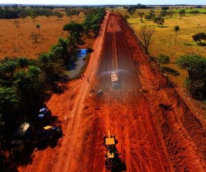 Obras em estrada de Bonito estão 70% concluídas