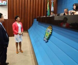 Em discurso na Assembleia, vereadora alerta para violência contra mulher