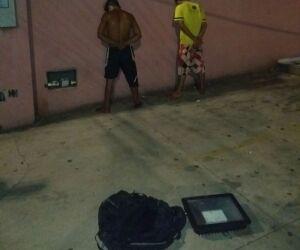 Vídeo: Bandidos roubam refletor da estátua de Manoel de Barros