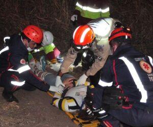Casal sofre queda após pneu de motocicleta estourar na BR-163