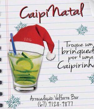 Para alegrar Natal de crianças de instituição, bar da Capital troca caipirinha por brinquedo