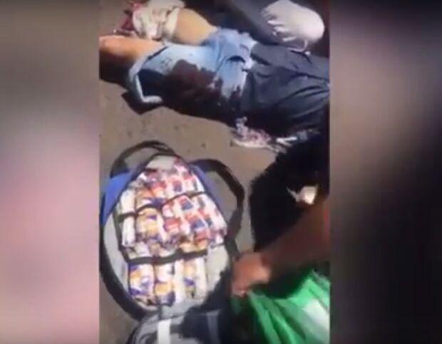Vídeo - Imagens Fortes: motociclista tem a perna decepada em acidente