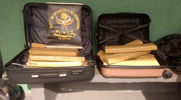 Mulher é presa com mais 19 kg de maconha em ônibus