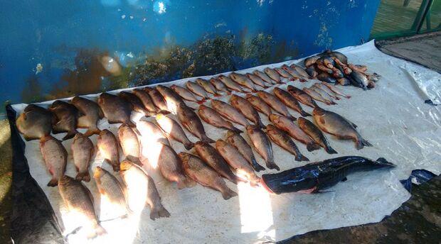 Duas pessoas autuados por pesca predatória ilegal