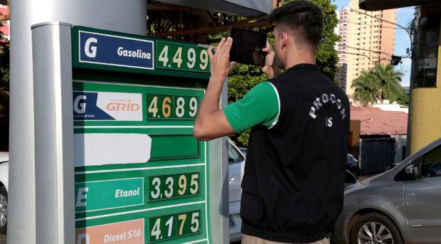 Fiscalização em postos de combustíveis continua, na capital