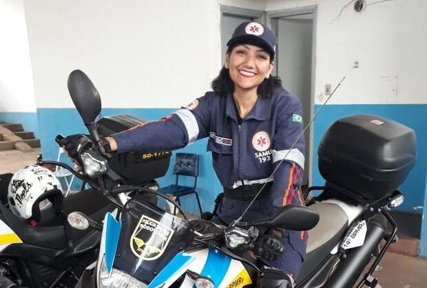 Mirian é a primeira motossocorrista em Campo Grande