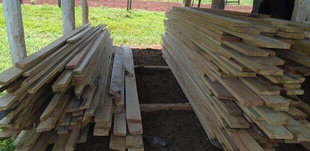 Depósito ilegal de madeira é encontrado pela PMA