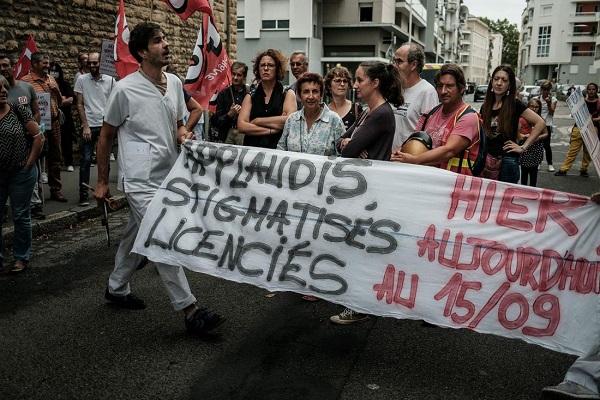 Profissionais da saúde protestam na França