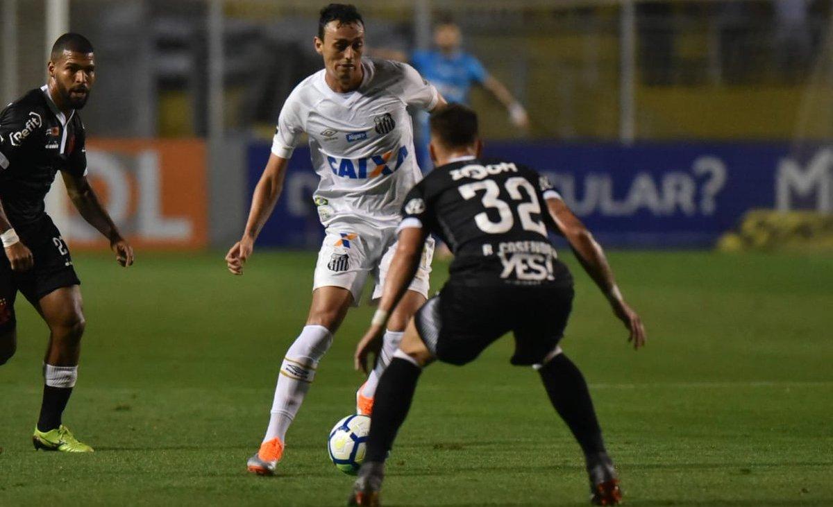 594e66de4f Diego Pituca abriu o placar para o Santos. O gol de empate foi marcado por  Rios (Reprodução Twitter-Santos F.C.)